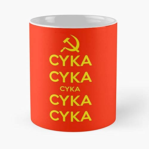 (Cyka Russia Russian Commie Gift Coffee/tea Ceramic Mug Father Day)