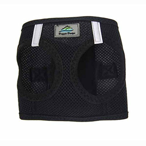 CHOKE FREE REFLECTIVE STEP IN ULTRA HARNESS - BLACK - ALL SIZES - AMERICAN RIVER (Small) by Doggie Design - Free Harness