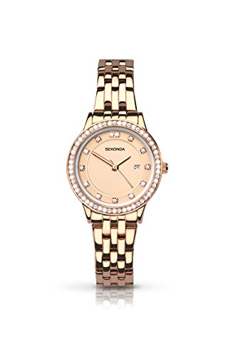 Sekonda Harmony Ladies Rose Gold Dial Watch with Rose Gold Coloured Bracelet 2391