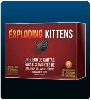 EXPLODING KITTENS - GATOS EXPLOSIVOS - (EDICIÓN ORIGINAL EN ESPAÑOL) UN JUEGO DE CARTAS PARA LOS AMANTES DE LOS GATOS Y DE LAS EXPLOSIONES Y DE LOS RAYOS LASER: Amazon.es: Juguetes y