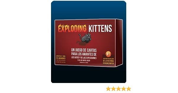 EXPLODING KITTENS - GATOS EXPLOSIVOS - (EDICIÓN ORIGINAL EN ESPAÑOL) UN JUEGO DE CARTAS PARA LOS AMANTES DE LOS GATOS Y DE LAS EXPLOSIONES Y DE LOS RAYOS ...