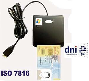 LECTOR de DNI-e DNI ELECTRÓNICO DOCUMENTO NACIONAL DE IDENTIDAD ESPAÑOL ESPAÑA - LEE TARJETAS SIM - USB 2.0 NORMATIVA ISO7816 PARA DNI ISO 7816 EMV2000 Level 1 SIM-EDITOR