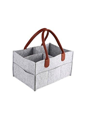Diaper Bag | Baby Diaper Caddy | Nursery Diaper Tote Bag | Large Portable Car Travel Organizer | Boy Girl...