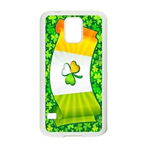 High Quality Phone Back Case Pattern Design 11Irish Flag with Celtic Clover-Lucky Clover- For Samsung Galaxy S5