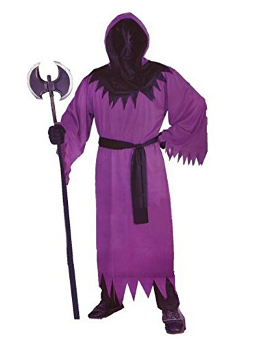 Fun World Mens Unknown Phantom Costume with One-Way Mesh Mask Purple -