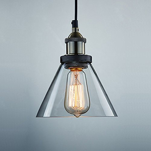 CLAXY Ecopower Antique Industrial Mini Glass Pendant