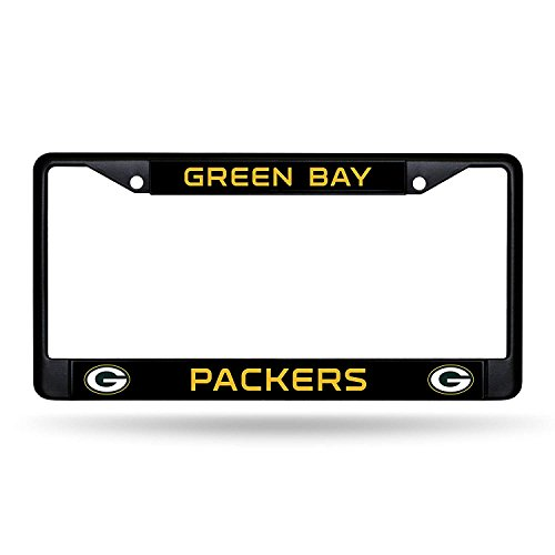 Infinity Stock NFL – Black Metal License Plate Frame 6.25″x12.25″ – Car, Truck, SUV & Van – Auto Exterior Accessories (Green Bay Packers)