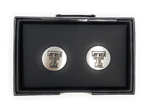 - Laser Engraved Gifts Texas Tech University Cuff Links Silver Cufflink Set