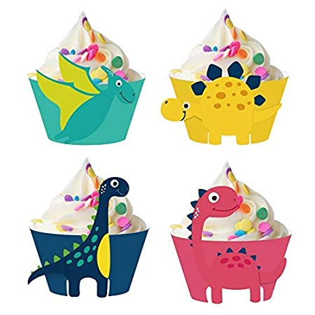 Tomister 24 Piezas Cupcake Wrapper, Dinosaurier Pastel ...
