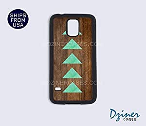 Galaxy Note 2 Case - Dark Wood Print Teal Arrow