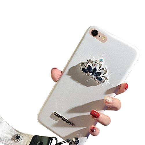 Funda iPhone 6 plus Funda iPhone 6s Plus 5.5 Pulgadas, Sunroyal TPU Cáscara Transparente de Silicona de Gel Ultra Delgado Carcasa Suave Flexible [Anti-Arañazos] Tapa Alta Calidad Case Cover Flexible B Blanco
