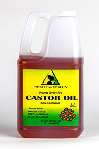 Castor Oil Turkey Red Organic Carrier Cold Pressed Hexane Free Pure 128 oz, 7 LB, 1 gal