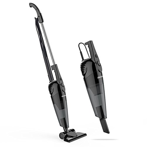 SOWTECH Stick Vacuum 2 in 1 Lightweight Corded Upright and Handheld Vacuum Cleaner, HEPA Filtration (Bagless), Come with Crevice Tool and Brush