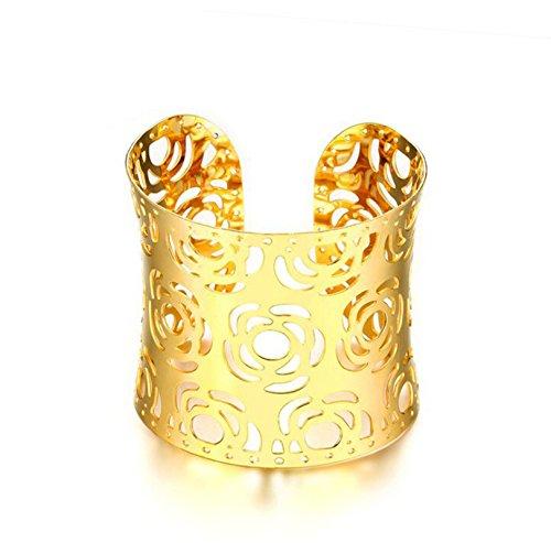 Amazon.com: Beydodo 5.2cm Width Stainless Steel Bracelet ...