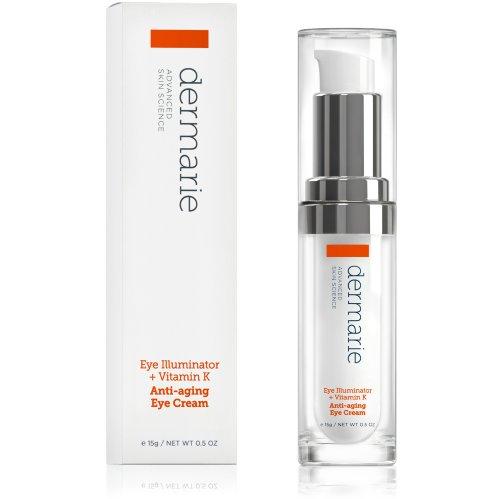 Dermarie глаз Просветитель Антивозрастной крем для глаз + витамин К, Арника и гиалуроновая кислота, 0,5 унции. / 15 мл