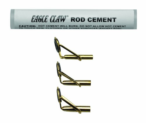 Kit Tip Rod (Eagle Claw Rod Tip Repair Kit with Glue, Gold)
