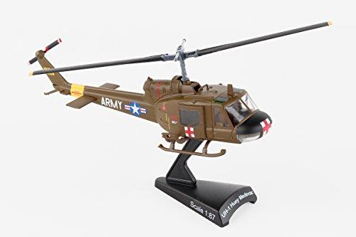 Daron Worldwide Trading Postage Stamp UH-1 Huey MEDEVAC US Army Vehicle (1/87 Scale) Daron Worldwide Trading Diecast Vehicle