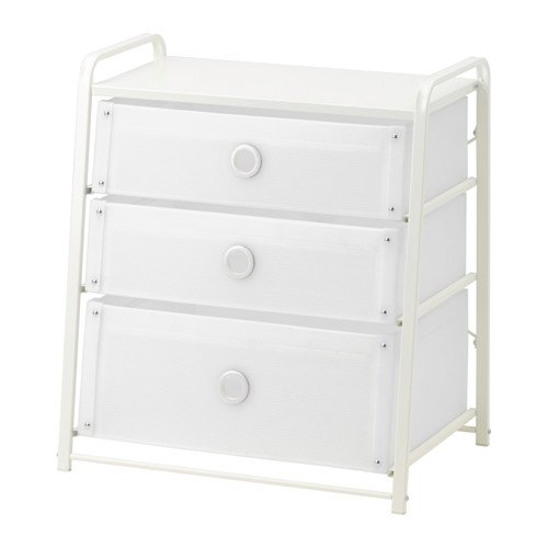 3 DRAWER CHEST NIGHTSTAND WHITE LIGHT WEIGHT MODERN (Furniture Ikea White Bedroom)