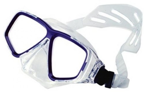 Deep See Clarity Silicone Mask - Clear Great for Scuba Divers and Water Sports ()