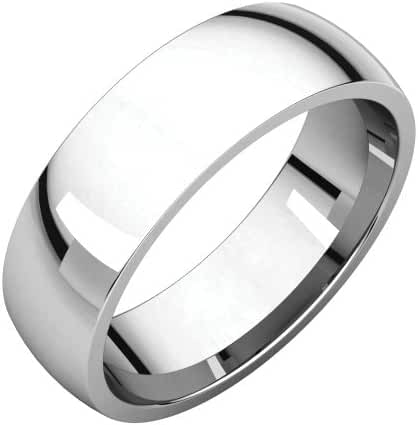 Platinum 6mm Light Comfort Fit Band, Ring Size 4.5