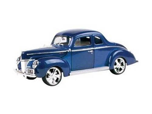 1940 Ford Coupe Deluxe Blue with Custom Wheels 1/18 by Motormax 79003 1940 Ford Custom Coupe