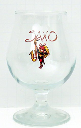 Brasserie Caracole Belgian Blond Ale Saxo Stemmed Tulip Beer Glass from BRASSERIE CARACOLE