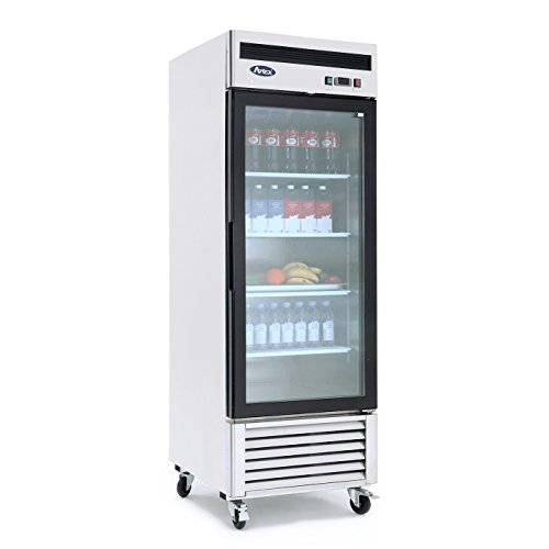 Commercial Refrigerator,ATOSA MCF8705 – Bottom Mount (1) One Glass Door Refrigerator