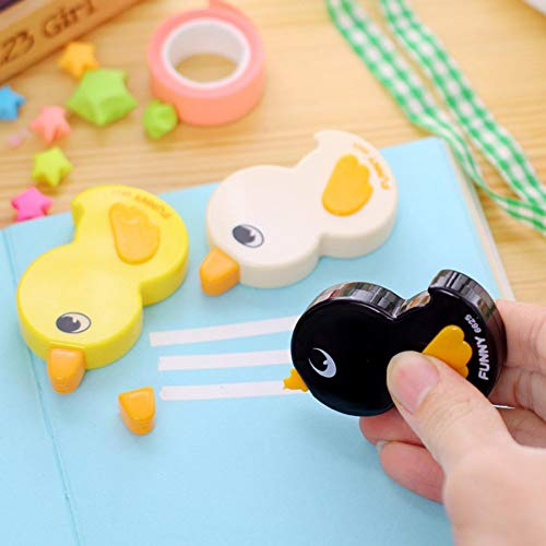 - Tcplyn Premium Quality 1pc Cute Duck Shape Correction Tape White Out Tape Cute Writing Tape for School Kids Students Stationery Gift,Random Color