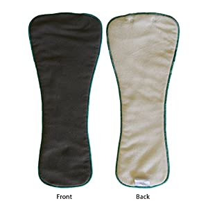 EcoAble 3-pack Snap-in Charcoal Bamboo Inserts for Incontinence Cloth Diaper Covers Youth / Teen / Adult by EcoAble Cloth Diapers
