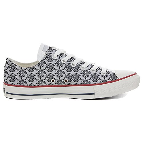 Converse PERSONALIZZATE All Star Hi Canvas, Sneaker Unisex (Prodotto Artigianale) Back Groud Abstract