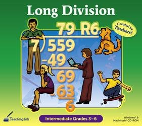 Long Division (Intermediate Grades 3 - 6) - Teaching Ink! Printable Workbook by SelectSoft Publishing by...
