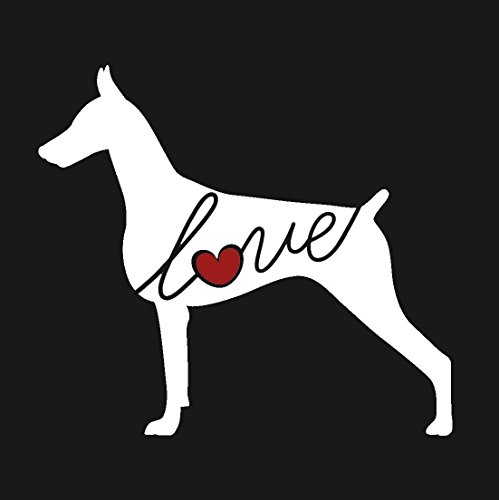 Doberman Pinscher Love - Car Window Vinyl Decal Sticker (Script Font)