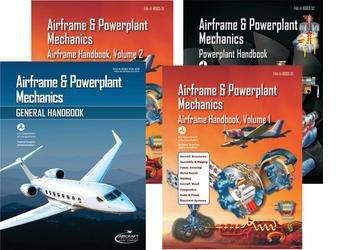 Airframe & Powerplant Mechanics - Set of 4; FAA-H-8083-30-ATB, FAA-H-8083-31 (2 volumes), FAA-H-8083-32 (4 Volume set)