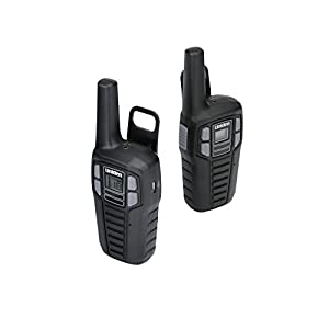 Uniden SX167-2CH 16 Mile FRS/GMRS Two-Way Radios with Charging Kit, 2-Pack, Black
