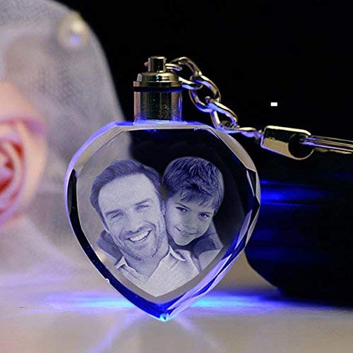 Crystal Heart Keychain with Light