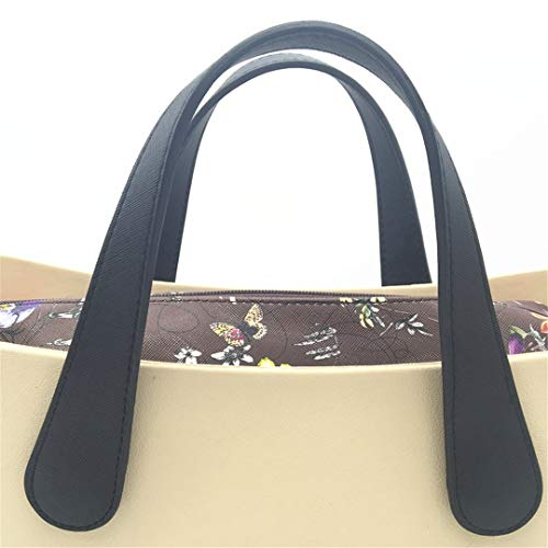 BHDSHCS Handle for Original Italy PU Handle for Bag Variable-Length Bag Accessories for Women Silicon Handbag Style Flat Black 45 cm (Flat Snowboard Binding)