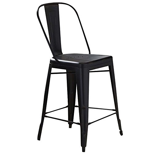Liberty Furniture 179-B350524-B Vintage Dining Series Bow Back Counter Chair, Black -