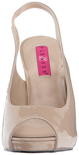 Pleaser Pink Label Eve-04 - Plataforma Mujer Beige (Cream Pat)
