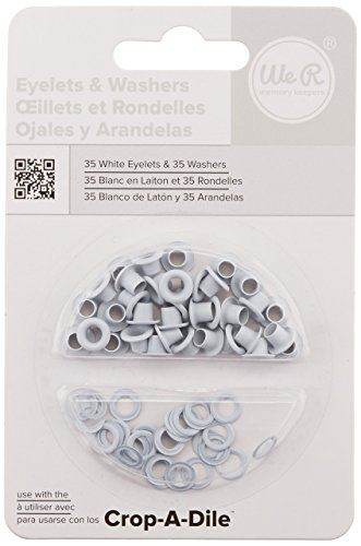 We R Memory Keepers Eyelet and Washer - White - 70 - Memory Wide Eyelets Keepers
