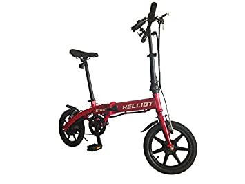 Helliot Bikes Siam Plegable Bicicleta Eléctrica, Adultos Unisex, Rojo, M