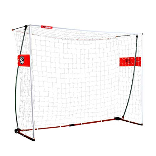 Goals Portable Soccer Indoor - Rukket Portable Soccer Goal 6x4 ft | Bow Style Goals for Kids and Adults | Backyard and Indoor Collapsible Pop-Up Net with Carry Bag