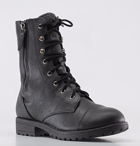 Marco Republic Copenhagen Girls Kids Childrens Mid-Calf Military Combat Boots