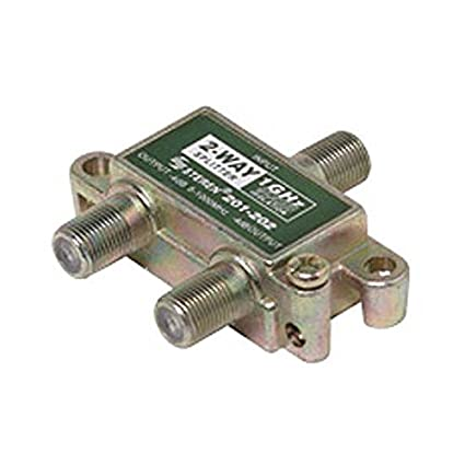 2 Way Splitter 1GHz 5-1000 MHz 90 dB 75 Ohm Coaxial Signal DC Power