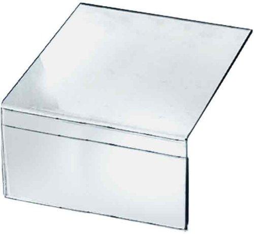 Azar Displays 142702 6-Inch W x 4-Inch H Shelf Acrylic Sign Holder, (Edge Sign Holder)