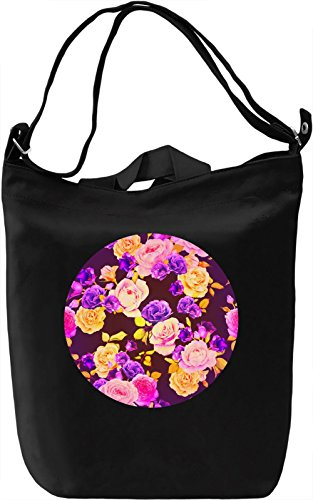 Colourful Roses Borsa Giornaliera Canvas Canvas Day Bag| 100% Premium Cotton Canvas| DTG Printing|