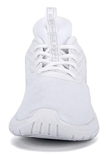 Soulsfeng Män Kvinnor Unisex Avslappnad Mode Sneakers Lätta Andas Athletic Sportskor Vit
