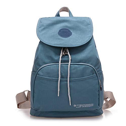 Tiny Chou Waterproof Nylon Drawstring Backpack Flip Cover Lightweight Daypack for Women