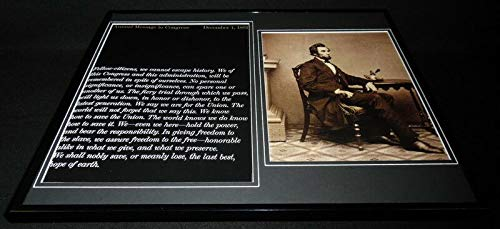 Abraham Lincoln 1862 Message to Congress Framed 16x20 Photo Display
