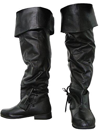 Rebellion Thigh High Renaissance Boot (7 M US) (Mens Renaissance Boots)