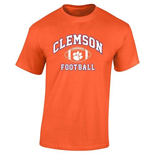 Elite Fan Shop Clemson Tigers Tshirt Power Orange - M - Orange White